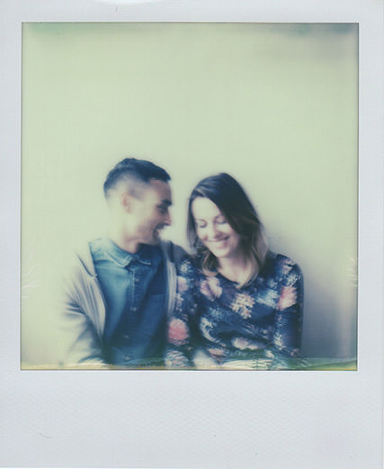 Polaroid of Derbyshire Wedding Photographers Kim and Chantelle   Photo credit: Emma Case Photography